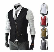 Fashion Men Slim Fit  Men's Formal Vest Casual Waistcoat Dress Vests Jackets