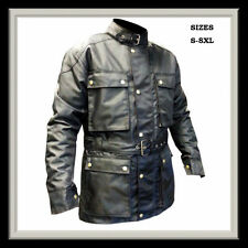 Ballistic Nylon Motorcycle Windproof, Waterproof, Wool lined Biker HITECH jacket