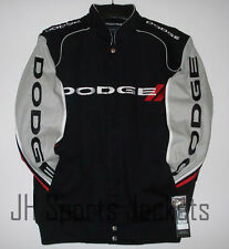 Authentic Dodge Racing  Embroidered Cotton Jacket JH Design Black NEW