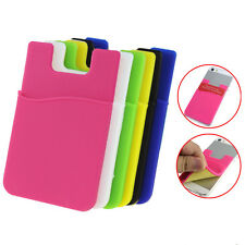 Soft Silicone Phone Back Cases Cover Card Wallet Pouch for iPhone Samsung HTC LG