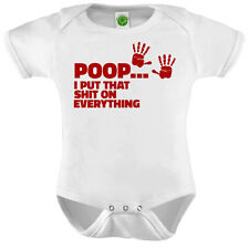 Poop I Put That Shit On Everything Onesie ORGANIC Cotton Romper Baby Shower Gift
