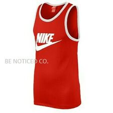 Nike Ace Red Tank Top Unwashed Logo The Rock Pain & Gain  Red White XL 2XL