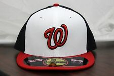 Washington Nationals NE TECH New ERA 59 Fifty Fitted Hat MLB Auth BP Cap