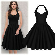 Womens Pinup Retro 50's Vintage Swing Prom Coktail Party Dress Skater Dresses
