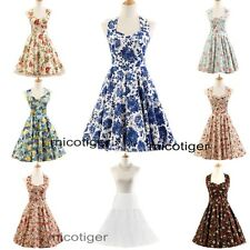 Women 50s Vintage Floral Housewife Rockabilly Swing Prom Cocktail Party Dress