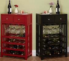 Wine Rack Cabinet Drawer Buffet Server Furniture Small Dining Kitchen Sideboard