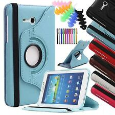 "For Samsung Galaxy Tab 3 Lite 7.0 7"" SM-T110 T110 pu leather case 360 rotate"