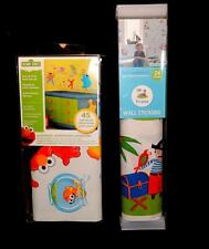 SELF ADHESIVE PEEL & STICK WALL DECALS (Removable) PIRATES or SESAME STREET