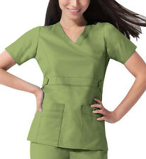Scrub Dickies Gen Flex Youtility Mock Wrap Top 817355 Desert Sage  FREE SHIPPING