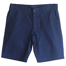 """New Men's 9"""" Cotton Chino Shorts Regular Fit Blue Grey White Size 36 37 38 39 40"""