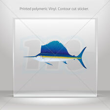 Decals Sticker Sailfish Car Window Motorbikes Boat polymeric vinyl  mtv RS927