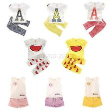 2 PCS cotton baby kids girl boy tops+pants outfits &set Clothing summer suit B58
