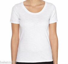 Basic Scoop V Neck Cotton Tee Black Blue Ivory Grey Marle Mint Purple Red White