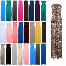 Ladies Women's Sheering Boobtube Bandeau Long Jersey Strapless Maxi in a lot Siz