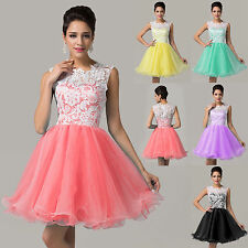 Women Stock Short Evening Party Prom Ball Gowns Cocktail Tulle Dresses 6-14
