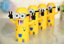 Toothbrush Holder Cute Minions Wash Set  Automatic Toothpaste Dispenser