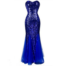Bling Strapless Evening Dresses Applique Tulle Long Party Formal Prom Ball Gown