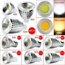 GU10 E27 MR16 Dimmable Cool/Warm White COB LED Spot Lights Lamp Bulbs 6W 9W 12W