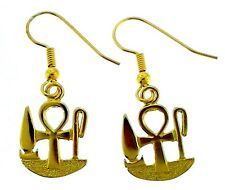 Egyptian Symbols of Life, Health and Happiness Earrings