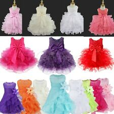 Baby Flower Girl Dress Princess Birthday Wedding Pageant Party Tutu Kids Gown