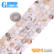 "Botswana Agate Gemstone Matte Frost Round Beads Free Shipping 15"" 8mm 10mm14mm"