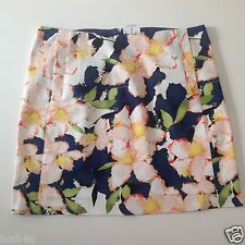 J. Crew Factory Printed Cotton Sateen Mini Skirt NWT Size: 2, 4, 8, 10, 12