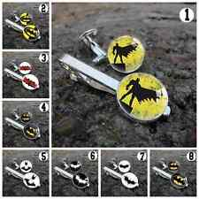 Batman Comic Superhero Men Cufflinks Wedding Gift Handmade Cuff Links Tie Clip