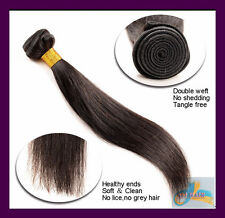 100g 16''~26'' Vrigin Straight Hair Weft Human Hair Extension,Black,Brown,Blonde