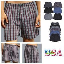 3 6 12 Mens Boxers Plaid Shorts Underwear Lot Cotton Briefs Pairs Pack S-3XL New