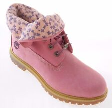TIMBERLAND 8015B WOMEN'S PINK ROLL TOP BOOTS