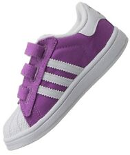 ADIDAS ORIGINALS SUPERSTAR 2 CF BABY KIDS SHOES SNEAKERS PURPLE WHITE Size 19