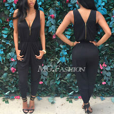 Sexy Lady Women V neck Backless Jumpsuit Romper Playsuit Party Club Dress Pants