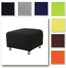 Custom Made Footstool Cover, Replacement Slipcover, Fits IKEA Klippan Footstool.