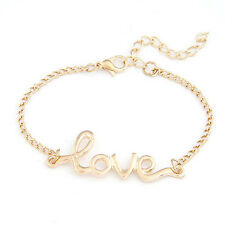 Fashion Handmade Bracelet With Colorful Alloy Love Wristband Bangle Jewelry Gift