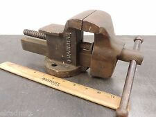 """COLUMBIAN BENCH VISE 140 WORK HOLDING 3"""" BENCH MACHINIST VICE  VINTAGE USA"""