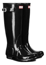 HUNTER ORIGINAL TALL GLOSS BLACK WELLINGTON BOOTS Welly BRAND NEW WITH BOX & TAG