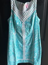 Lilly Pulitzer Macfarlane Shift Dress Sea Cups NEW NWT Shorely Blue White