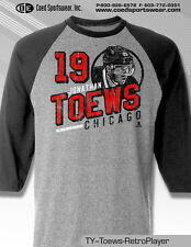 Jonathan Toews, Chicago Blackhawks star MENS Fine Jersey Raglan Tee