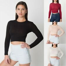Vtg Women Stretch O Neck Crop Pullover Knit Top Casual Knitwear Sweater Jumper C