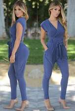 Sexy Womens Plunge Empire Waist Harem Pants Club Cocktail Party Jumpsuit Rompers