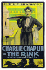 Comedian Actor Charles Charlie Chaplin Retro Silent Movie Poster Free Shipping
