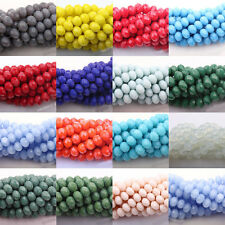 Hot Stylish Natural  Czech Glass Faceted Rondelle Bead Jewelry DIY 4/6/8/10mm