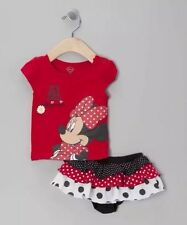 New Baby Girls Clothes Minnie Outfit set Top+Ruffle Bloomer Skirt Shorts 6M-24M