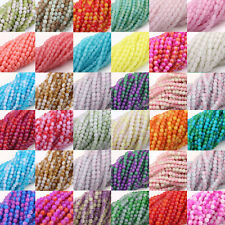 Creative 50/100/200Pcs Round Chic Czech Glass Charm Loose Spacer Bead DIY Gift