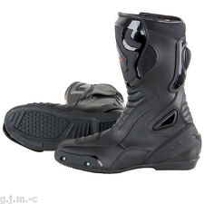 Vulcan Mens V300 Velocity Black Leather Sport Motorcycle Boots