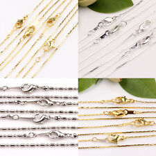 Creative 5/20Pcs Silver Golden White K Round Clasp Alloy Chain DIY Gift Finding