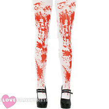 LADIES BLOODSTAINED TIGHTS HALLOWEEN FANCY DRESS COSTUME ACCESSORY ZOMBIE NURSE