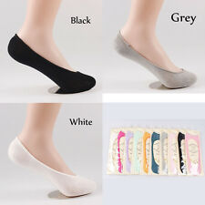 5 Pairs MEN WOMEN No Show FASHION LOW CUT INVISIBLE BOAT SOCKS Heel-Grip SOL0102