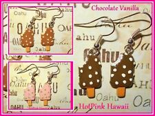 Bite Taken Ice Cream Popsicle on Stick Retro Funky Heath bar crunch Earrings USA