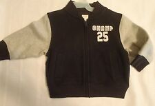 GYMBOREE Slam Dunk Boys 2T-3T or 12-24 Month Choice Black Jacket NWT